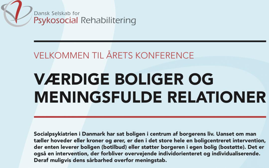 Konference 2019: Værdige boliger og meningsfulde relationer